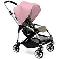 Bugaboo Bee3 Stroller Aluminum - Dark Khaki - Soft Pink