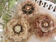 Uniquely ella: My new addiction, making shabby flowers.