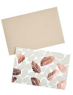 Tropical Leaves Card Set