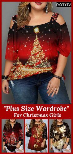 Plus Size Christmas T-Shirts for Curvy Girls I Dont Like You, Don't Like Me, Plus Size Christmas Tops, Christmas Fashion, Christmas Ad, Online Shopping Stores, Plus Size Tops, Plus Size Fashion, Womens Fashion