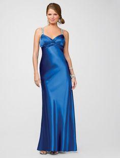 2011 Style Sheath / Column Sweetheart  Sleeveless Floor-length Elastic Woven Satin Royal Blue Bridesmaid Dress / Prom Dress / Evening Dress (SZ035015 )