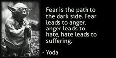 Yoda quote from Star Wars Episode I :: The Phantom Menace ~ Fear ...