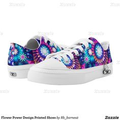 Flower Power Design Printed Shoes