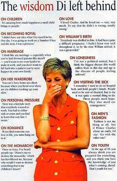 The Wisdom Princess Diana Left Us #inspiration #beauty