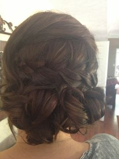 Wedding hair. asked for something loose and romantic with maybe a braid; I got it all!