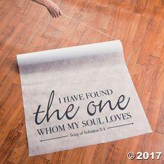 Song of Solomon Aisle Runner - OrientalTrading.com