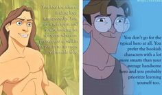 What your favorite disney hero says about you. Well the second one says a lot. About me at least.