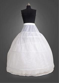 Tulle & Nylon White Wedding Petticoat With Elastic Band and Chalaza