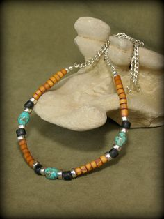 Mens Necklace  Turquoise Necklace  Native by StoneWearDesigns, $58.00