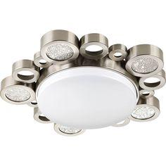 Progress Lighting (P3681-09) Bingo 1 Light Close-to-Ceiling Fixture in Brushed Nickel