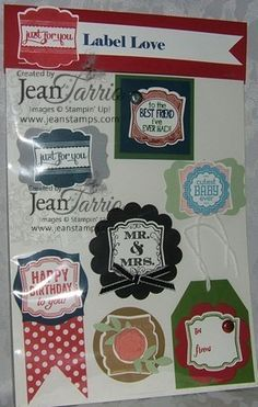 Label Love Card Candy 2013 Convention Jeannine Tarrio Stampin Up