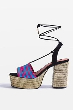 121d696f33 Loop espadrille platforms Strappy Sandals