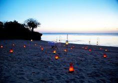 Beach dining at Azura Quilalea.
