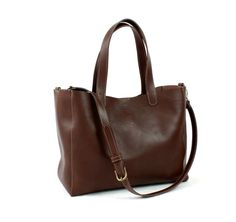 LEATHER TOTE BAG/Brown leather bag/Oversize bag/Large by ElMato