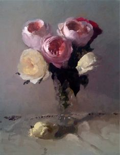❀ Blooming Brushwork ❀ - garden and still life flower paintings - Dennis Perrin Painting Still Life, Still Life Art, Paintings I Love, Flower Paintings, Art Floral, Still Life Flowers, Acrylic Flowers, Love Art, Painting Inspiration