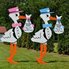 Our stork lawn sign birth announcements welcome new baby home and