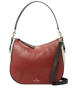 2cc27c54a3 Kate Spade Cobble Hill Mylie Leather Satchel Bag Brown Colorblock Purse  Tote NWT