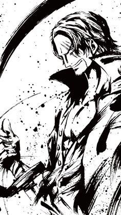 One Piece (Shanks) One Piece Manga, One Piece Drawing, Zoro One Piece, Manga Anime, Otaku Anime, Anime Art, One Piece Tattoos, Pieces Tattoo, Haki One Piece