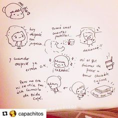 """Ay que me hizo reír @capachitos con esta historia """"de la vida real""""!😄👏 Vamos a necesitar mucho humor (y doble dosis de café) para esta mañana postelecciones 😳 Buen día, dulzuras. A repartir locura de la buena! #buendia #buenosdias #ilustracion #risas #goodmorningsunshine #vivalavida #goodmorning #goodmorningworld #vivalafridacafe #fridacafe"""