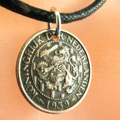 COIN NECKLACE NETHERLANDS  jewelry. dutch pendant by PartsForYou, $12.95 Coin Jewelry, Coin Necklace, Unique Jewelry, Jewellery, Coin Pendant, Pendant Jewelry, Art Nouveau, Lion Images, Ball Chain