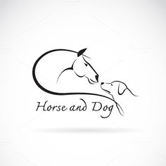 Vector image of horse and dog by @Graphicsauthor