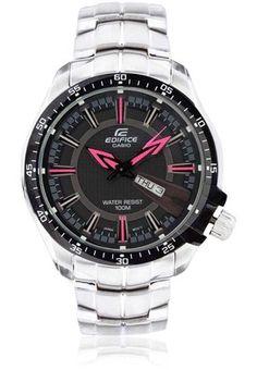 bf377db9033 Buy CASIO Edifice Ef-130D-1A4vdf (Ed418) Silver Black Analog Watch Online -  2933873 - Jabong