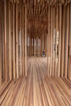 David Adjaye's Sclera pavilion was made of American tulipwood to highlight the beauty of what is perceived as a utilitarian material.