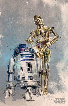 r2d2 c3po - Disney commission (Star Wars) by neo-innov on DeviantArt