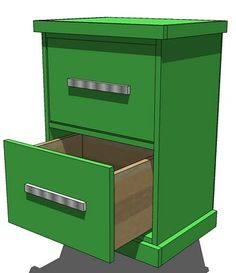 Ana White | Build a Build Your Own Office - Narrow File Drawer Base Unit | Free and Easy DIY Project and Furniture Plans