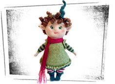Miss Elfi | Rubi Special, #haken, gratis patroon (Duits), kleding voor de elf, pop, knuffel, speelgoed, amigurumi, haakpatroon, stuffed toy, free pattern (German), de pop zelf is een kooppatroon
