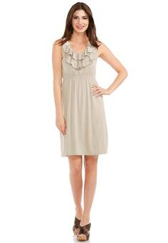 Cato Fashions Crochet Back Ruffled Dress #CatoFashions