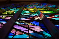 Stained glass chapel   Illinois Yellow And Blue Lesbian Wedding   Equally Wed - LGBTQ Weddings