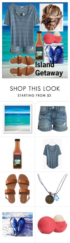 """""""Island Getaway"""" by horselover35125 ❤ liked on Polyvore featuring Current/Elliott, Madewell, Aéropostale, Disney, Eos, beachlife and islandgetaway"""