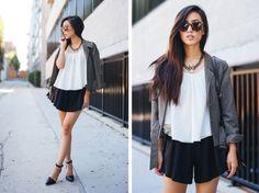 Neon Blush, Jenny Ong, fashion blog, Lovers + Friends, Maje brand, Alexander Wang, Karen Walker sunglasses