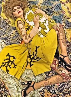 vogue steven meisel patterns fashion photography
