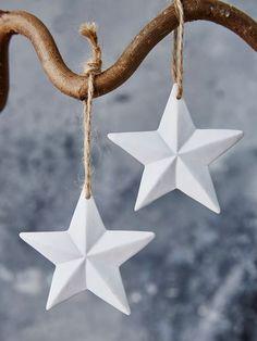 White Porcelain Star Decoration #nordic #house #scandi #home #decor #white #porcelain #star #christmas #decoration