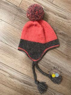 4ad8b8ec25cc Bonnet style péruvien, avec gros pompon,tricoté en laine mérinos, pour  enfant,