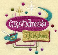 Grandma's Kitchen Embroidery MachineDigital by MiEmbroideryDesigns, $5.99