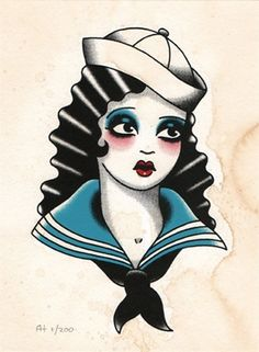 Sad little sailor girl