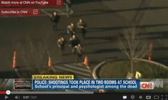 CNN deception: Live aerial footage of police running into Sandy Hook was of…