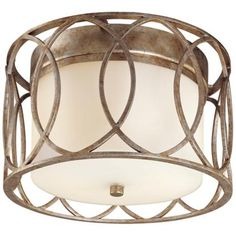 "Sausalito Collection 12 1/4"" Wide, 7.5"" high, Silver-Gold Ceiling Light - $287, 60watt x2,"