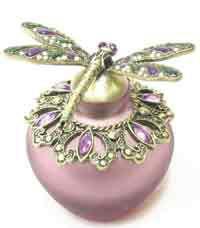 Purple Dragonfly Perfume Bottle