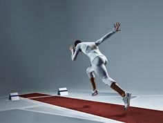 Dutch fashion designer Pauline van Dongen has created experimental athletics…