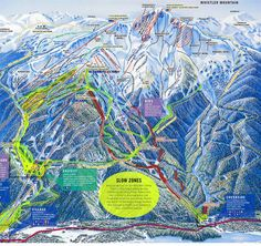 Trail Map of Whistler Mountain, British Columbia, Canada