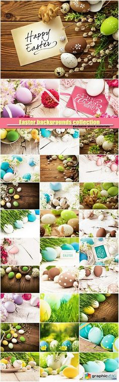 Easter backgrounds collection  stock images