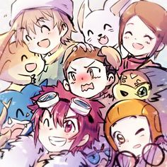 "Digimon Adventure 02||||| Cody's face though! He looks like ""Guys! Too close!"" Ha!"