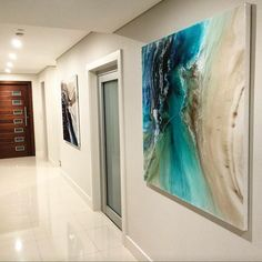 A beautiful client sent me a photo of two of my paintings just hung in their home. So lovely to he...