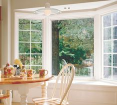 Bay and bow windows from Pella expand your view, even with limited wall space. Find out more about bay and bow windows from Pella. Pella Windows, Wood Windows, Windows And Doors, Bay Windows, Front Windows, Home Estimate, New Home Construction, Window Styles, Wood Interiors