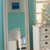 Beau White Full Length Mirror