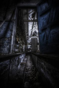 the doorway through to the control room in a derelict factory.. see more HDR Urbex images here hdrprocessing.com/category/hdr-urbex-locations/